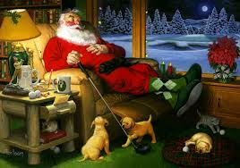 Even Santa Has To Put His Feet Up Sometimes And Dream Of Golf...